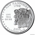 2000 D New Hampshire Statehood Quarter D Mint MS-63