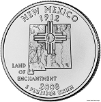 2008 D New Mexico Statehood Quarter D Mint MS-63