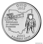 2002 P Ohio Statehood Quarter P Mint MS-63
