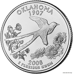 2008 D Oklahoma Statehood Quarter D Mint MS-63