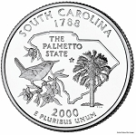 2000 D South Carolina Statehood Quarter D Mint MS-63