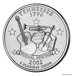 2002 D Tennessee Statehood Quarter D Mint MS-63