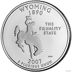2007 D Wyoming Statehood Quarter P Mint MS-63