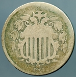 1866 Shield Nickel AG