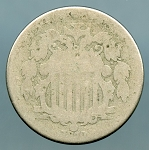 1870 Shield Nickel About Good