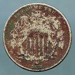 1872 Shield Nickel Cull