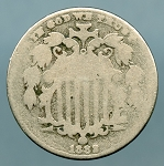 1882 Shield Nickel About Good