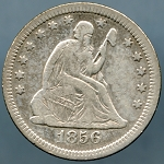 1856 Seated Quarter VF-20