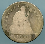 1856-O Seated Quarter AG