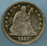1857 Seated Quarter Fine