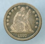 1877 CC Seated Quarter Fine