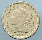 1866 Three Cent Nickel  VG