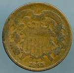 1865 Two Cent Piece About Good
