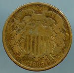 1868 Two Cent Piece About Good