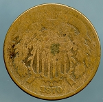 1870 Two Cent Piece About Good