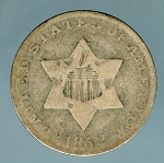 1852 Three Cent Silver Good