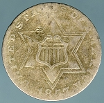 1857 Three Cent Silver About Good