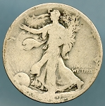 1919-D Walking Half Dollar Poor