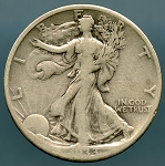 1933-S Walking Half Dollar AG