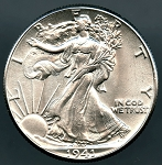 1941 Walking Half Dollar B.U. MS-60