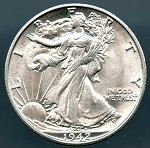 1942-S Walking Half Dollar MS-63