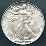 1943 Walking Half Dollar MS 60