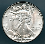1943 Walking Half Dollar MS 63