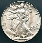 1944 Walking Half Dollar B.U. MS-60