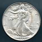 1944 Walking Half Dollar MS 60
