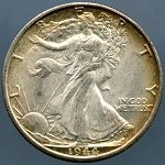 1944 D Walking Liberty Half Dollar MS-63