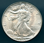 1945 Walking Half Dollar MS 60