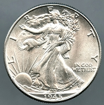 1945 Walking Half Dollar MS-64