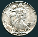 1945 D Walking Half Dollar Choice B.U. MS-63