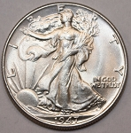 1947 Walking Half Dollar Choice B.U. MS-63