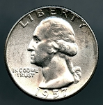 1957 Washington Quarter MS 63