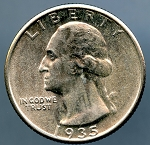 1935 Washington Quarter MS 60