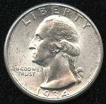 1934 Washington Quarter MS-64