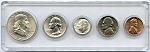 1963 United States Year Set - 5 Coin Set
