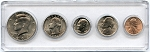1991 United States Year Set - 5 Coin Set