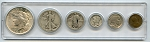 1923 United States Year Set - 6 Coin Set