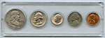 1954 United States Year Set - 5 Coin Set