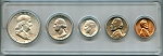 1958 United States Year Set - 5 Coin Set