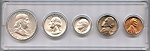 1961 United States Year Set - 5 Coin Set