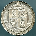 Great Britain 1887 1 Shilling  XF KM-761