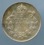 Canada 1903 H small H Nickel AU KM 13