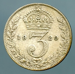 Great Britain 1920 3 Pence VF KM# 813