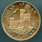 Isle of Man 1986 2 Pounds UNC KM# 167