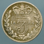 Great Britain 1886 3 Pence KM 730 AG