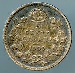 Canada 1909 Pointed leaves Fine KM 13