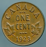 1923 Canadian Cent KM 28 XF